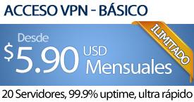 ACCESO VPN - $5.90 USD al mes