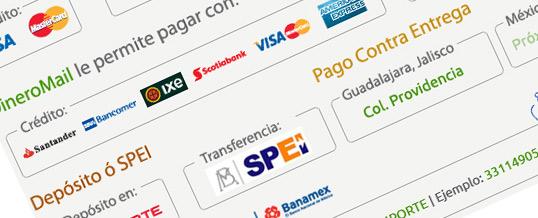 Nuevas formas de pago agregadas!
