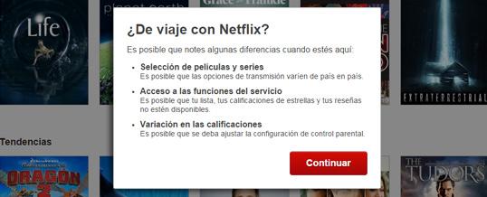 Diferencia entre el Netflix Mexicano vs Netflix USA.