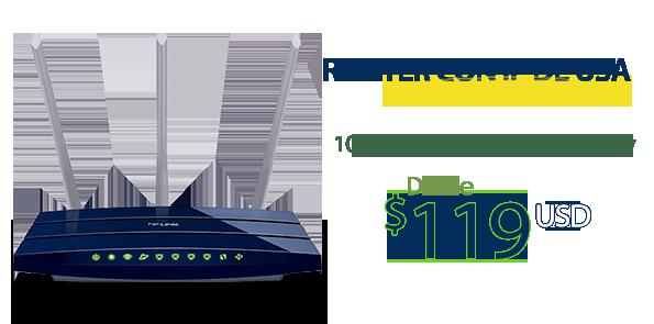 Router con IP americana