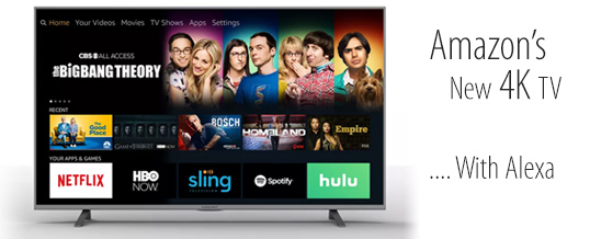 Nuevas TVs 4K de Amazon, con Alexa integrado